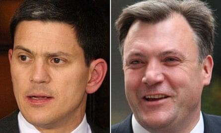 David Miliband and Ed Balls