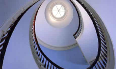 The staircase at Truman Capote's former home