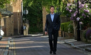 Nick Clegg returns to his home in London on 11 May 2010.
