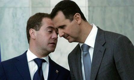 Dmitry Medvedev and Bashar al-Assad