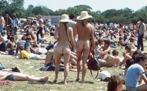 Glastonbury at 40: Naked man and woman