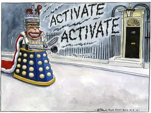 12.05.10: Steve Bell on the Queen