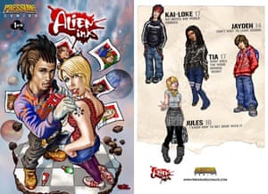 Alien Ink, one of Channel 4 Education's 'pressure comics' for young people