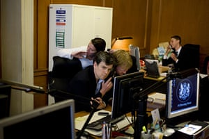 Behind the scenes: Downing St political staff listen in to the phone call from Nick Clegg