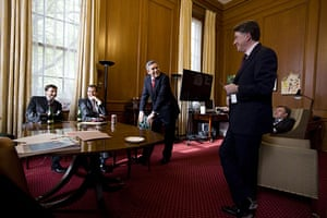Behind the scenes: Gordon Brown's office just before his resignation