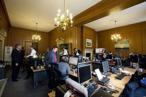 Behind the scenes: The 'war room' in Downing St