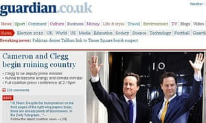 Fake guardian.co.uk front page