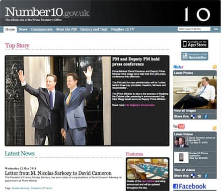 The Number10 website