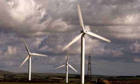 A windfarm in Cornwall.