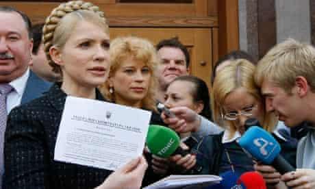Former Ukraine's PM Tymoshenko yesterday