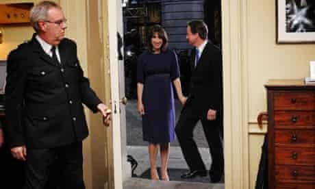 David and Samantha Cameron enter 10 Downing Stree