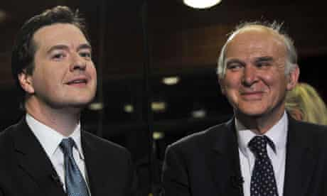 George Osborne and Vince Cable.