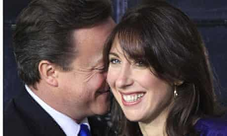 David Cameron with his wife, Samantha