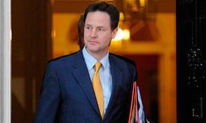 Nick Clegg leaving 10 Downing Street