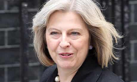 Theresa May at 10 Downing Street