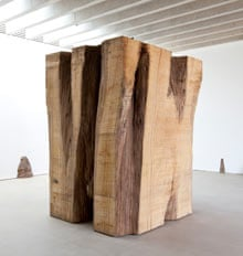 David Nash's <em>Oculus Block</em>, currently on display at Yorkshire Sculpture Park