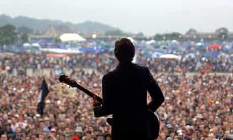 View from the Glastonbury stage