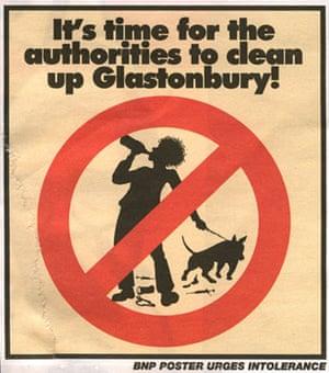 Glastonbury at 40: Glastonbury festival: BNP poster
