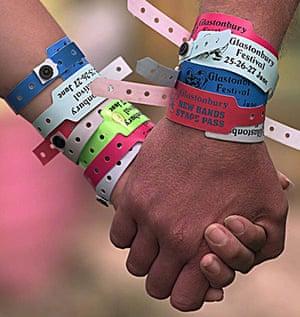 Glastonbury at 40: Glastonbury festival : A pair of festival-goers