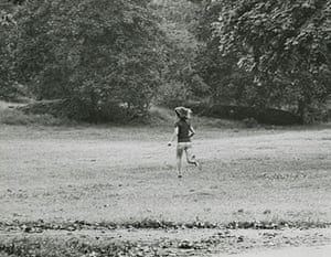 Exposed Tate Modern: What Makes Jackie Run? Central Park, New York City,1971 by Ron Galella