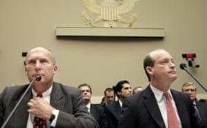 Deepwater Horizon: Oil spill : BP Chairman Lamar McKay and Steve Newman of CEO of Transocean