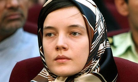 Clotilde Reiss in court in Tehran
