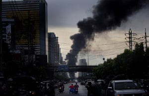 bangkok violence: Smoke billows from redshirt fires