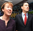 David Miliband with his wife Louise at the official launch of his campaign for the Labour leadership