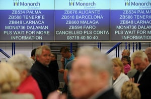 Volcanic ash: Passengers wait for information at Manchester Airport,
