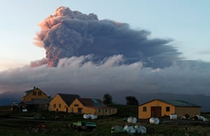 Volcanic ash: A fresh cloud of ash rises from the Eyjafjallajokull volcano  in Iceland