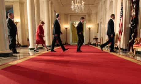 Barack Obama, Christina Romer, Timothy Geithner, Peter Orszag, Lawrence Summers