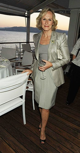 Cannes fashion: Glenn Close in a tonal outfit