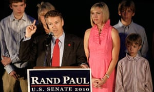 Rand Paul of the Tea Party celebrates win in Kentucky primary