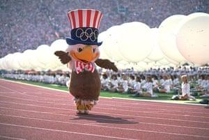 Olympic mascots: 1984 - Los Angeles, USA Sam the eagle olympic mascot
