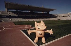Olympic mascots: 1992 - Barcelona, Spain: 'Cobi' the dog olympic mascot