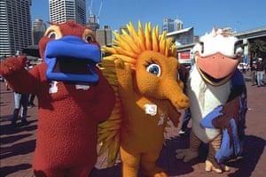 Olympic mascots: 2000 - Sydney, Australia: 'Syd', 'Millie' and 'Olly' three Olympic mascots