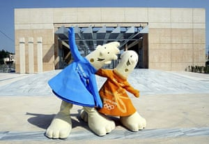 Olympic mascots: 2004 - Athens, Greece: Phevos and Athena olympic mascots