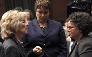 Deepwater Horizon: Oil spill reaches Louisana coast: Barbara Boxer, Nancy Sutley, Lisa Jackson