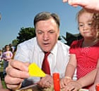 Ed Balls during a visit to a playgroup in Pitsea, Essex, on 19 May 2010.