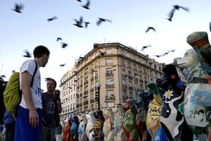 Global animal sculptures: United Buddy Bears in Buenos Aires