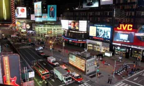 New York's Times Square after bomb scare
