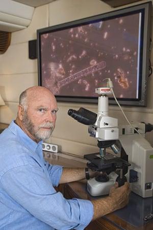 Craig Venter: Craig Venter on board his sailboat Sorcerer II