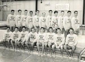 Craig Venter: Craig Venter school swimming team photo