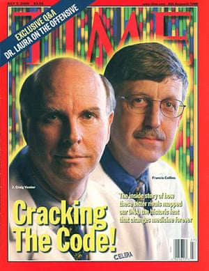 Craig Venter: Craig Venter and Francis Collins on the cover of Time