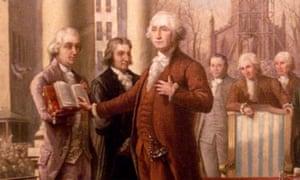 George Washington's inauguration, painting by Ramon de Elorriaga