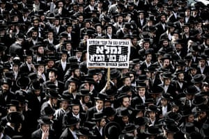 24 hours in pictures: Jerusalem: Ultra Orthodox Jews take part in a protest