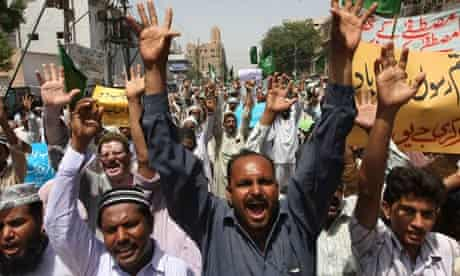 Protest in Pakistan against Facebook page