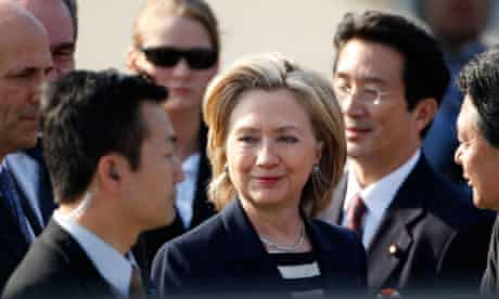 US secretary of state Hillary Clinton in Tokyo