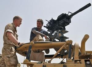 Beckham in Afghanistan: David Beckham visits Afghanistan