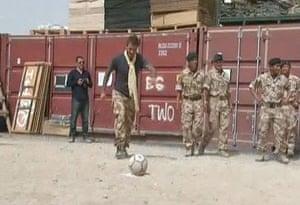 David Beckham: David Beckham visits Afghanistan